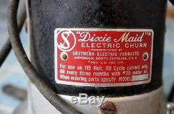 4 Gal. Vtg Dixie Maid Electric Butter stone crock