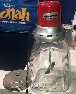 8 Quart Dazey Electric Glass Butter Churn with working electric motor no cracks