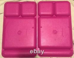 8 Tupperware Vtg 90s Divided Lunch Trays Camping Purple Teal Pink Fuchsia #1535