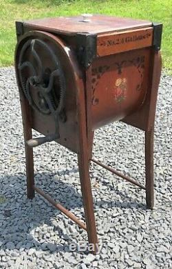 ANTIQUE BENT WOOD BUTTER CHURN by M. BROWN Co