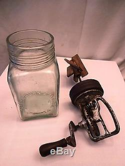 Antique Dazey Glass Butter Churn 1 Qt. Made In America Rare And Collectible