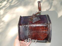 ANTIQUE FRENCH BUTTER CHURN primitive Wooden tool, 19 th century