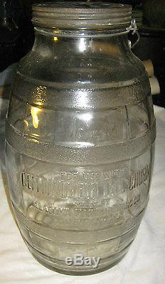 Antique Us Primitive Country Kitchen Gem Dandy Cow Glass Jar Bottle Butter Churn
