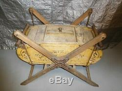 Antique 1800's Davis Swing Churn Wood/Cast Iron Butter Churn withStand 47 x 41