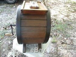 Antique 1800's IRISH BUTTER CHURN J & A McFarland Albert Works Solid Wood OAK
