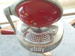 Antique 1920's DAZEY BUTTER CHURN 4 QT. Red Football STYLE-Near new condition