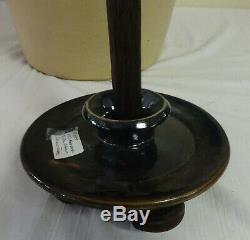Antique 6 Gal. Stoneware Butter Churn Cobalt Leaf Decorated Evan R. Jones Pitts