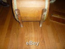 Antique 7 Gallon Cylinder Wooden Butter Churn New Style White Cedar No. 3