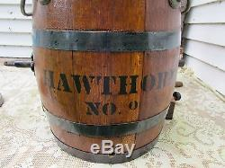 Antique Barrel Butter Churn Hawthorne No 0 With Stand Primitive Rustic Decor