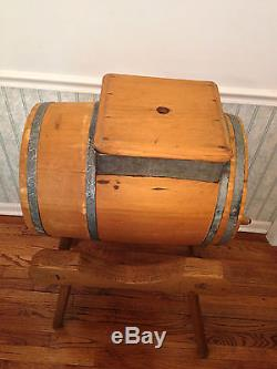 Antique Barrel Butter Churn with Stand Spain's Improved Patent Year Feb 1872