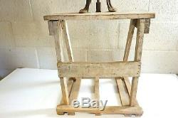 Antique Butter Churn On Stand 2 Handle Hand Crank Pa Estate Barn Find 36 Tall