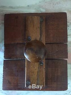 Antique Cylinder Cedar Butter Churn Early 1900s With Hand Crank 2 Metal Straps