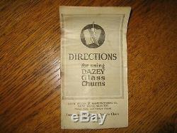 Antique Dazey Butter Churn No 40 with Thermometer and Instructions