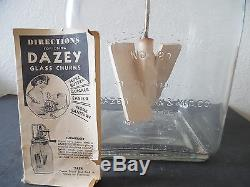 Antique Dazey Churn No. 80 Glass Butter Churn with Original Directions Booklet