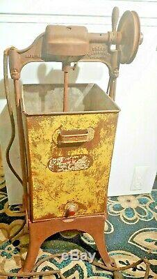 Antique Dazey Electric Metal Butter Churn Rare Advertising Piece of Americana