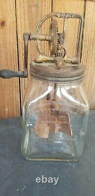 Antique Dazey Glass Butter Churn # 40 St Louis MO Patented Feb 14, 1922 Not Repo