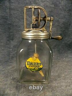 Antique Dazey Glass Butter Churn #40 St Louis Mo Patented Feb 14 1922 W Label