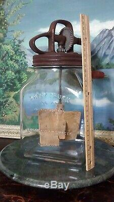 Antique Dazey no 40 Glass butter churn patented Feb 14 1922 St Louis Mo. HTF