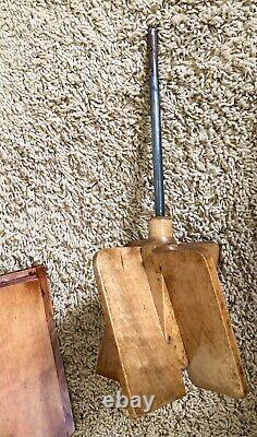 Antique FARM Tin & Wood Wardway Co Butter Cream Metal PADDLE CHURN Extra Clean