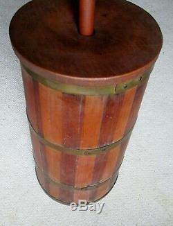 Antique Freestanding Wooden Butter Churn Complete with Dash