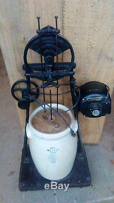 Antique GE Electric Butter Churn (1910) 6 Gallon Clay Pot