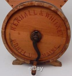 Antique Kendall & Whitney Portland Me No 1 Improved Butter Churn withStenciled Cow