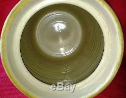 Antique Marshall Pottery No. # 3 Gallon Butter Churn Stoneware Crock with Dasher