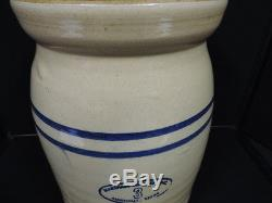 Antique Marshall TX Pottery #3 stoneware butter churn crock