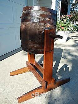 Antique McDermaid Floor Stand Butter Churn