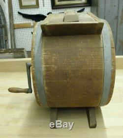 Antique NEW STYLE WHITE CEDAR Cylinder Barrel BUTTER CHURN 3 Gallon