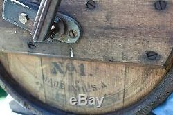 Antique New Style White Cedar Cylinder Butter Churn No 1 3 Gallons