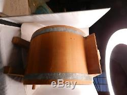 Antique New Style White Cedar Cylinder Churn Number 1 3 Gallon Beautiful