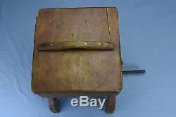 Antique PRIMITIVE HOMESTEAD BUTTER CHURN WOOD & METAL COUNTRY RED PAINT #3210
