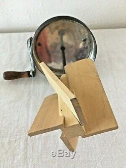 Antique Pre 1912 Dazey 4 Qt Butter Churn No 40 Wood Paddle Excellent Made In USA