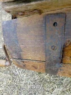 Antique Primitive Old Butter Churn With Hand Crank Wooden/metal Paddle
