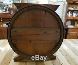 Antique Primitive Wood Barrel Butter Churn Mid to late 1800s