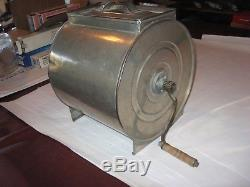 Antique Rare Metal Cylinder Barrel Churn With Wooden Paddles
