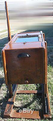 Antique Rocking Butter Churn with Iron Rail Platform and Glass Window VERY RARE