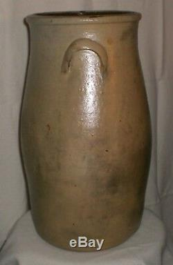 Antique Stoneware 4 Gallon Butter Churn With Dasher And Lid