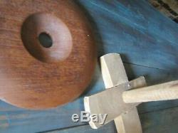 Antique Tall Stave Butter Churn Dasher Lid Barrel Style Wood Wooden Tall Butter