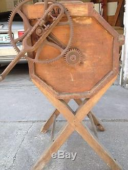 Antique Vintage Butter Wood Churn by The Wonder Churn Company Dayton, Ohio