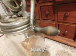 Antique Vintage Dazey Butter Churn No. 20B 20 B Authentic Glass Metal Top -WORKS