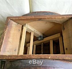 Antique Wood Table Butter Churn No 1 Improved Hall Bros. Co. West Acton Mass