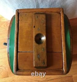 Antique Wooden Butter Churn And Antique Cabbage Cutter