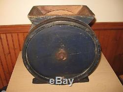 Antique Wooden Butter Churn No. 1 with Cow W. E. Barrett & Co Providence c1800's