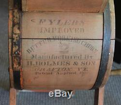Antique Wooden Churn Flyers Improved H. Holmes & Sons Grafton
