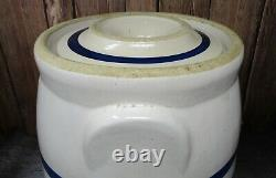 Antique Yellow Ware RRP Roseville Ohio BUTTER CHURN Robinson Ransbottom Pottery
