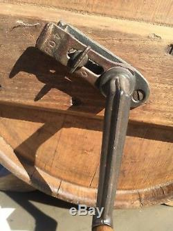 Antique wood 19th century hand Crank Butter Churn Complete