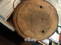 Antique wood 19th century hand Crank Butter Churn nice inside with wood paddle