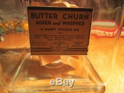 BEAUTIFUL VINTAGE Elgin 8 Qt. 4 PADDLE BUTTER CHURN with labels
